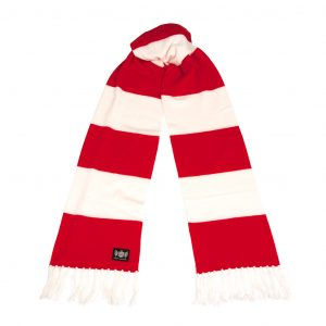 Savile Rogue Red and White Superking Cashmere Football Scarf