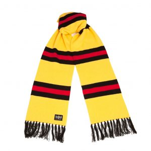 Savile Rogue Yellow Black and Red Superking Cashmere Football Scarf