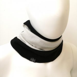 Savile Rogue Snood in Black and white