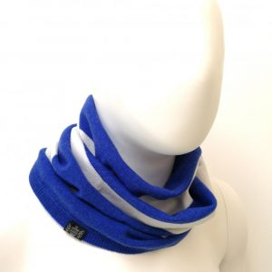 Savile Rogue Snood in Royal Blue and White