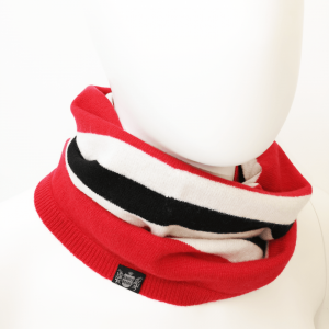 Savile Rogue Snood in Red Black and White