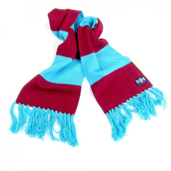 Savile Rogue Youth Claret and Blue Cashmere Football Scarf