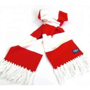 Savile Rogue Youth Red and White Football Scarf