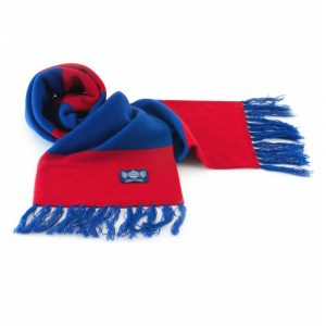 Red and Blue Deluxe Cashmere Football Scarf