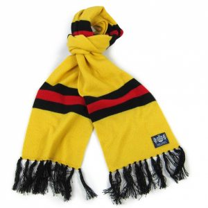 Savile Rogue Yellow Black and Red Deluxe Cashmere Football Scarf
