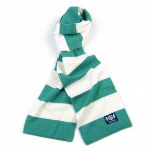 Savile Rogue Green and White Minibar Cashmere Football Scarf
