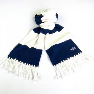 Savile Rogue Navy Blue and White Youth Football Scarf