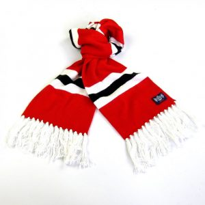 Savile Rogue Youth Red White and Black Football Scarf