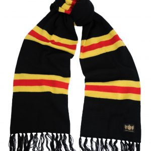 Savile Rogue Black Yellow and Red King Cashmere Football Scarf