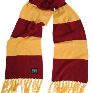 Savile Rogue Claret and Gold King Cashmere Football Scarf