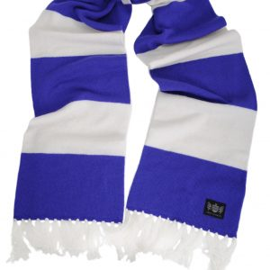 Savile Rogue Purple and White Superking Cashmere Football Scarf