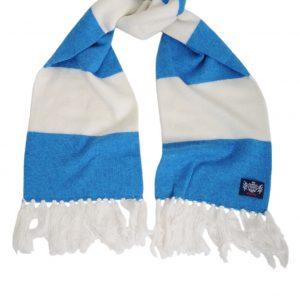 Savile Rogue Youth Aqua Blue and White Football Scarf