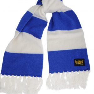 Savile Rogue Youth Royal Blue and White Football Scarf